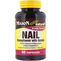 Добавки для здоровых ногтей, с желатином, 60 капсул - фото