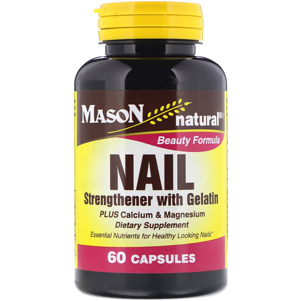 Nail Strengthener with Gelatin, 60 Capsules