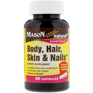 Mason Natural, Body, Hair, Skin & Nails, 60 Capsules