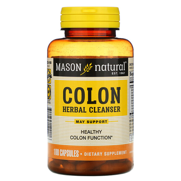Mason Natural, Colon Herbal Cleanser, 100 Capsules