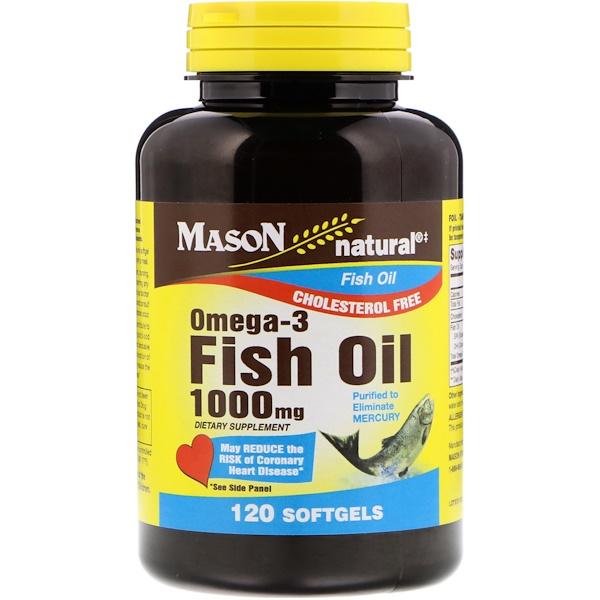 Mason Natural, Omega-3魚油,1000毫克,120粒