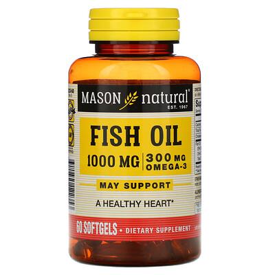Купить Mason Natural Omega-3 Fish Oil, 60 Softgels