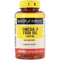 Рыбий жир с Омега-3, 1000 мг, 60 мягких таблеток - фото