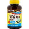 Mason Natural, Omega - 3 Fish Oil, 1000 mg, 60 Softgels