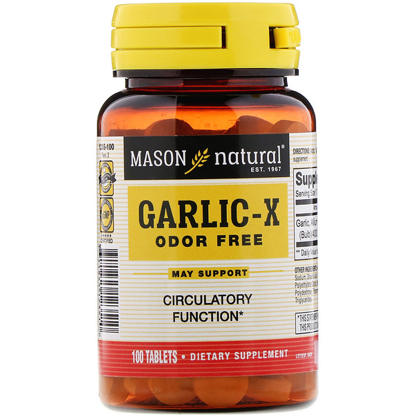 Garlic X, Order Free, 100 Tablets