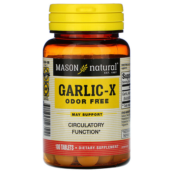 Garlic-X, Odor Free, 100 Tablets