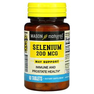 Mason Natural, Selenium, 200 mcg, 60 Tablets