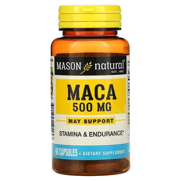 玛卡,500 毫克,60 粒胶囊