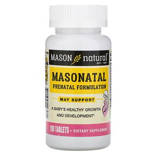 Mason Natural, Masonatal Prenatal Formulation, 100 Tablets