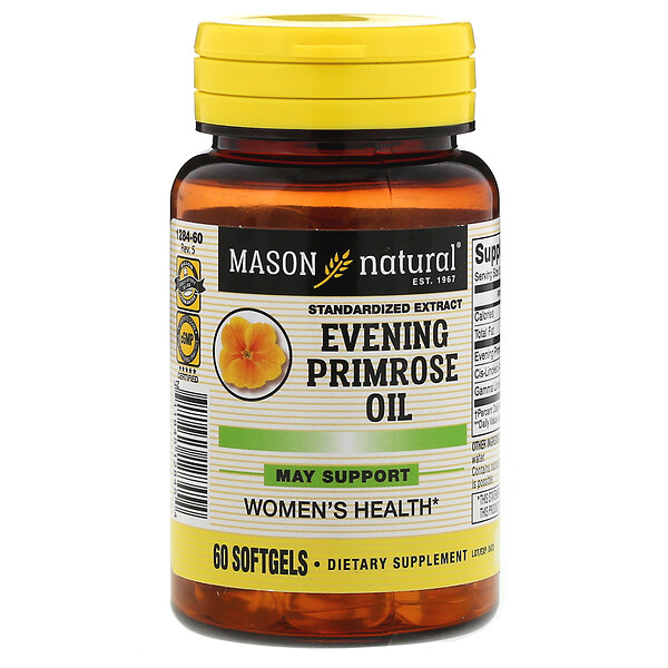 Mason Natural, Evening Primrose Oil, 60 Softgels