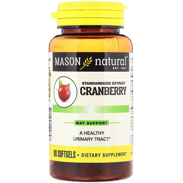 Mason Natural, Standardized Cranberry Extract , 90 Softgels