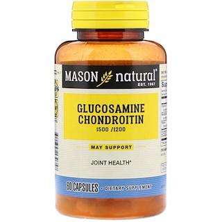 Mason Natural, 더블 스트렝스 글루코사민 콘드로이틴, 60 캡슐