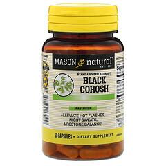 Mason Natural, Black Cohosh, Standardized Extract, 60 Capsules