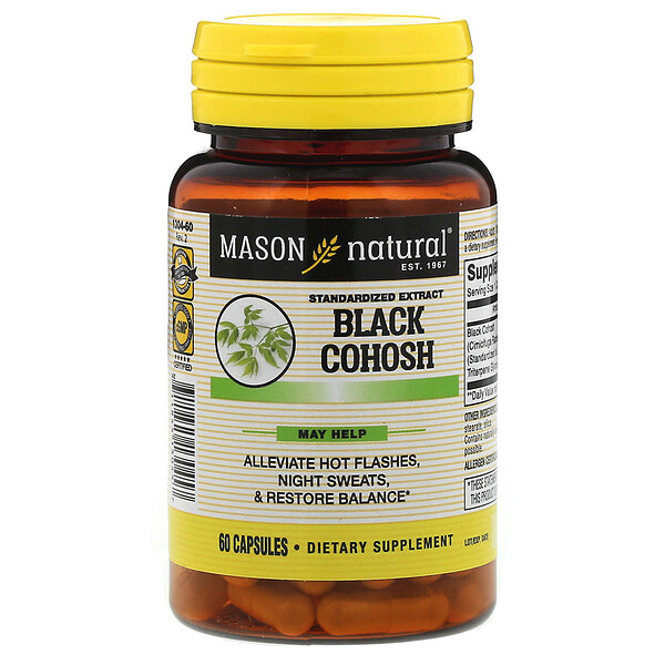 Black Cohosh, Standardized Extract, 60 Capsules
