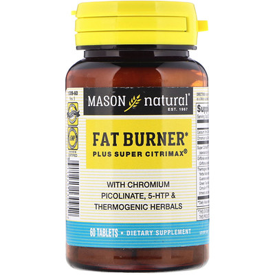 Fat Burner Plus Super Citrimax, 60 таблеток