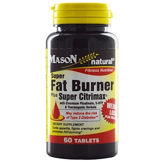 Mason Natural, Super Fat Burner Plus Super Citrimax, 60 Tablets