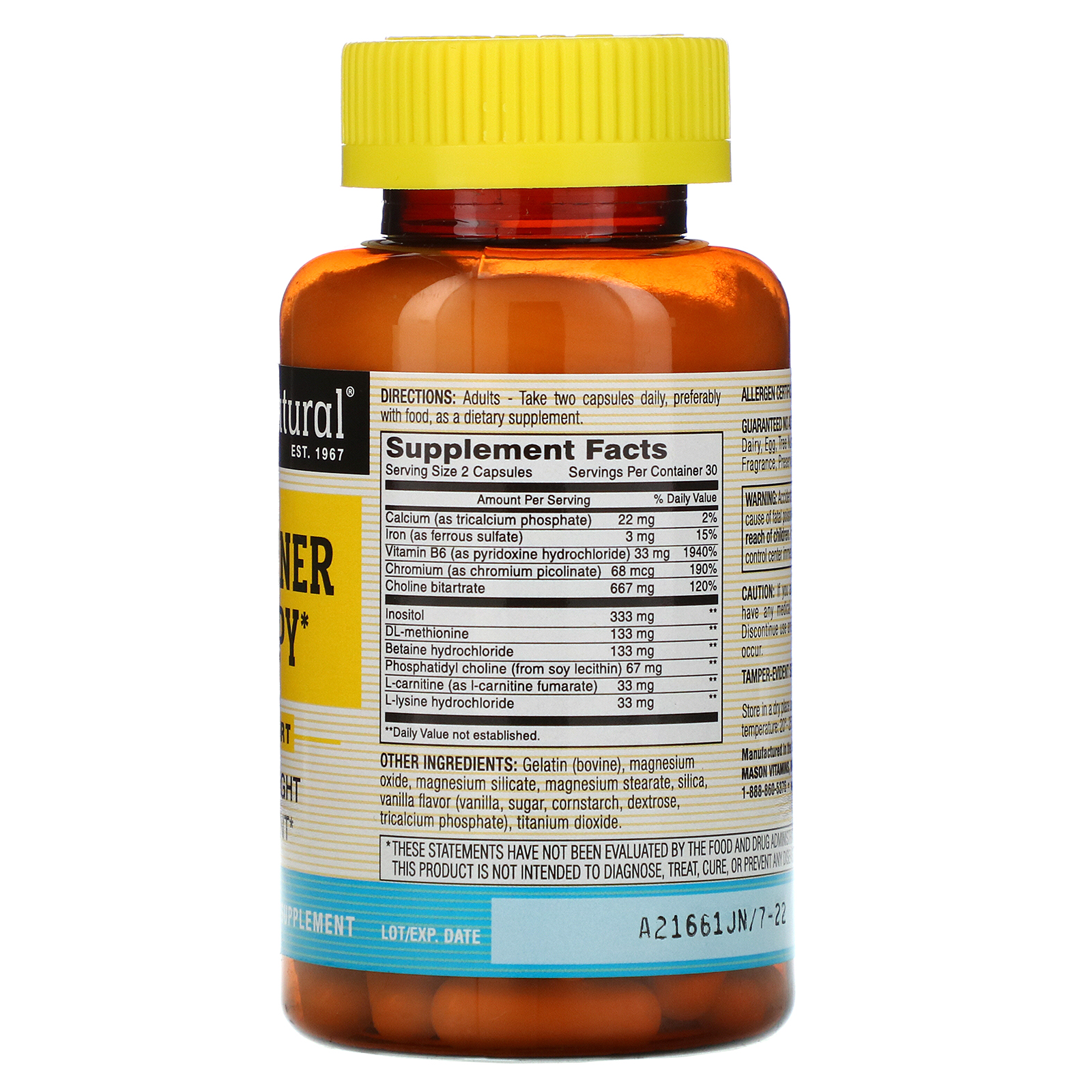 Mason Natural, Fat Burner Plus Super Citrimax, 60 de tablete