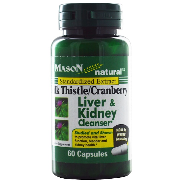 Mason Naturals, Milk Thistle/Cranberry, Liver & Kidney Cleanser, 60 Capsules