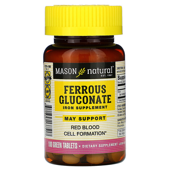 Ferrous Gluconate, 100 Green Tablets