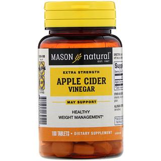 Mason Natural, Extra Strength Apple Cider Vinegar, 100 Tablets