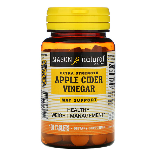 Extra Strength Apple Cider Vinegar, 100 Tablets