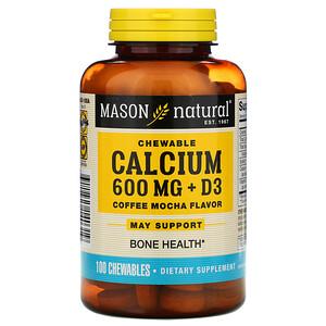 Масон Натуралс, Chewable Calcium + D3, Coffee Mocha Flavor, 600 mg, 100 Chewables отзывы покупателей