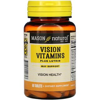Mason Natural, Vision Vitamins Plus Lutein, 60 Tablets