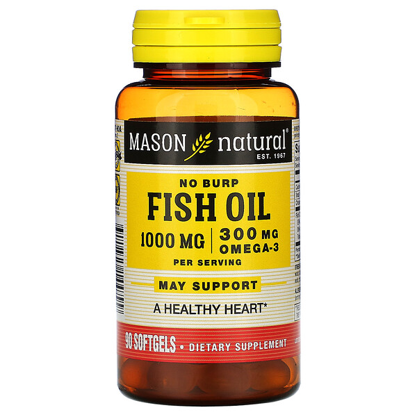Mason Natural, Fischöl, 1.000 mg, 90 Softgel-Kapseln (Discontinued Item)