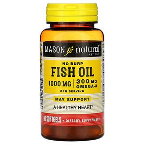 Масон Натуралс, Fish Oil, 1,000 mg, 90 Softgels отзывы