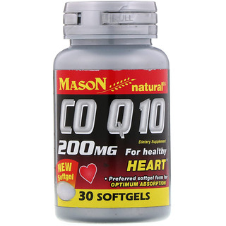 Mason Natural, CO Q-10, 200 mg, 30 Softgels