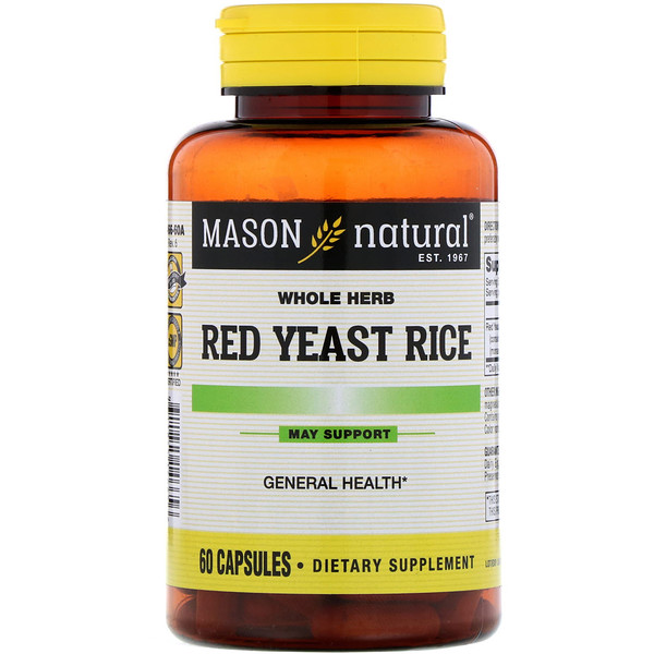 Red Yeast Rice , 60 Capsules