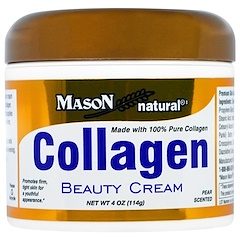 Mason Natural, Collagen Beauty Cream, Pear Scented, 4 oz (114 g)