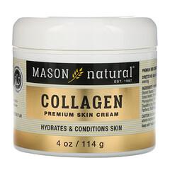 Mason Natural, 膠原蛋白高級護膚霜,梨味,4 盎司(114 克)