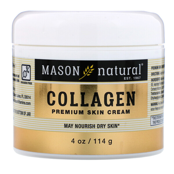 Mason Natural, Collagen  Premium Skin Cream, 4 oz (114 g)