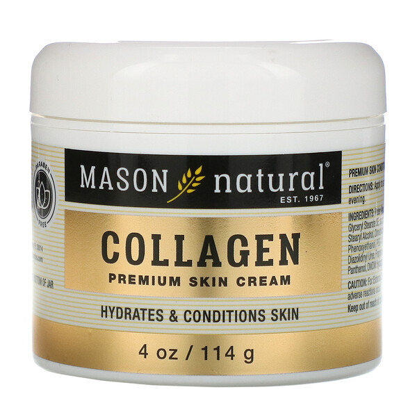 Mason Natural, Collagen  Premium Skin Cream, Pear Scented, 4 oz (114 g)
