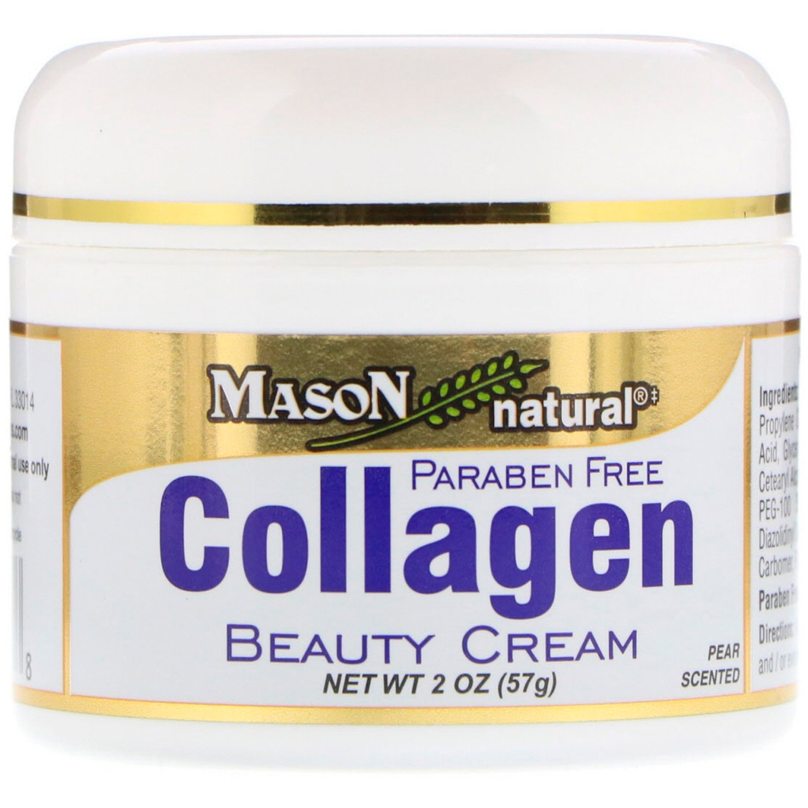 Mason Vitamins, Collagen Beauty Cream, Pear Scented, 2 oz (57 g) (Pack of 2) Otiderm Ear Cleanser for Dogs & Cats (8 fl oz)