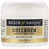 Mason Natural, קרם קולגן פרימיום לפנים, בניחוח אגסים, 57 גר' (2 oz)