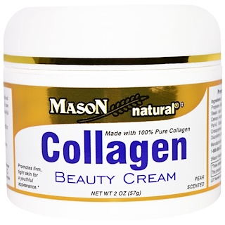 Mason Naturals, Collagen Beauty Cream (Crema de Belleza con Colágeno ) , Olor a pera, 2 oz (57 g)
