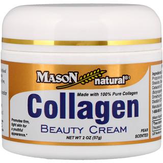 Mason Natural, Крем с коллагеном, с ароматом груши, 2 унции (57 г)
