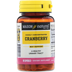 Mason Natural, Cranberry, Highly Concentrated, 60 Capsules