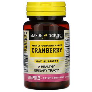 Mason Natural, クランベリー、高濃縮、60粒