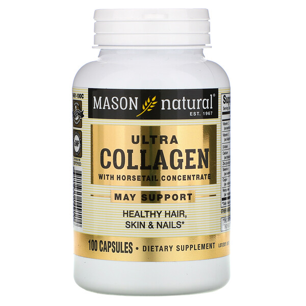 Mason Natural, Ultra Collagen with Horsetail Concentrate, 100 Capsules
