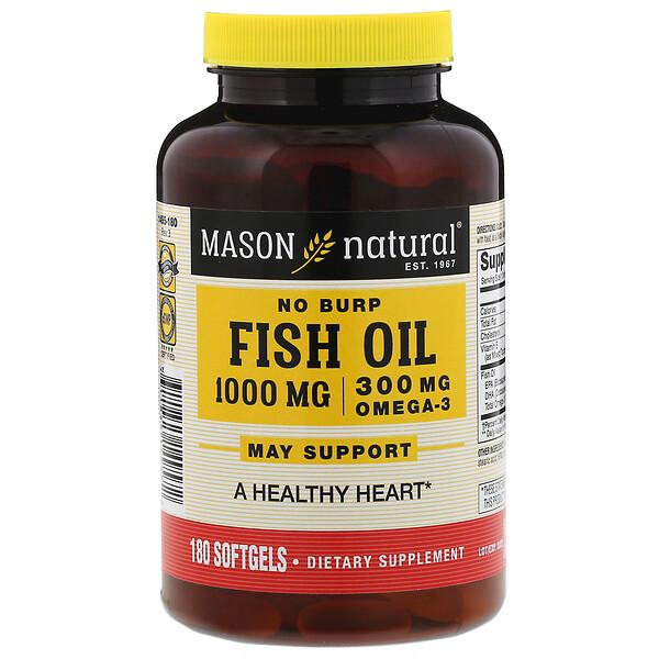 Mason Natural, Fish Oil, 1000 mg, 180 Softgels