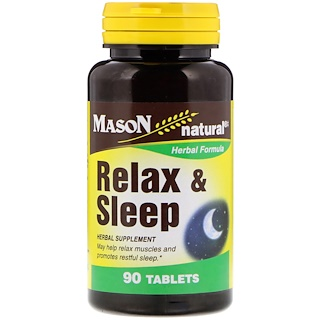 Mason Natural, Relax & Sleep, 90 Tablets