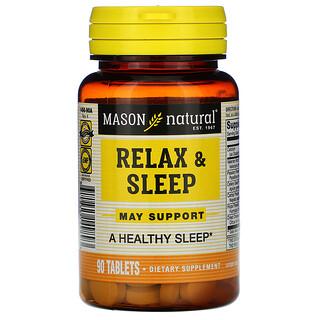 Mason Natural, Relax & Sleep, 90 Tablets