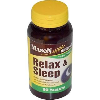 Mason Naturals, Relax & Sleep, 90 Tablets