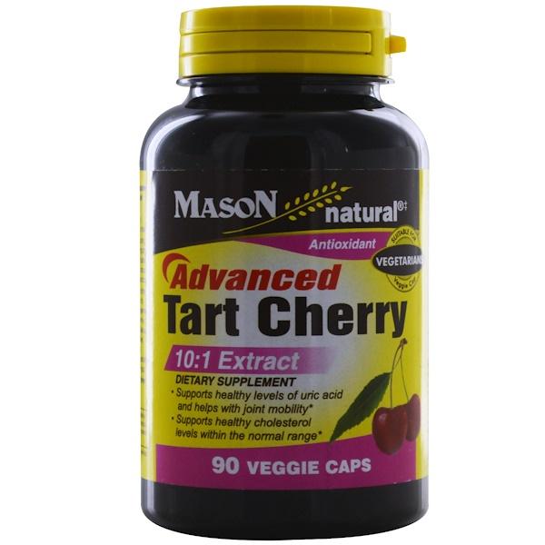 Mason Natural, 高級酸櫻桃,90粒素食膠囊