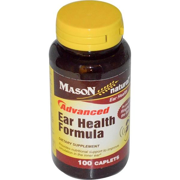 Mason Natural, Formule avancée pour la santé de l'oreille, 100 comprimés