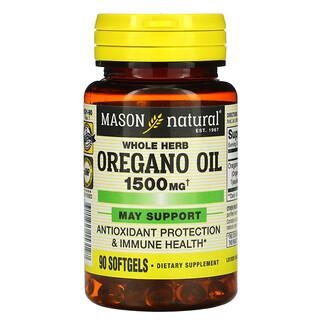Mason Natural, Whole Herb Oregano Oil, 1,500 mg, 90 Softgels