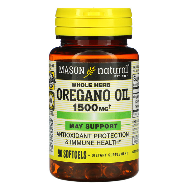 Whole Herb Oregano Oil, 1,500 mg, 90 Softgels